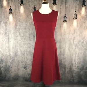 Talbots Burgundy Fit & Flare Dress size 10 NWT